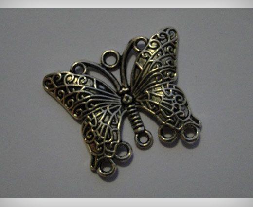 Zamac Silver Plated Beads CA-3104