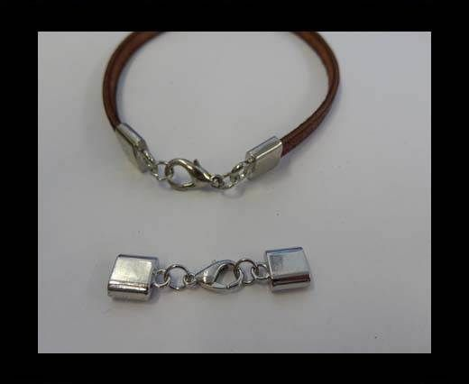 Zamak Lobster Claw Clasps-ZAML-3-6*3MM-SteeL-Silver