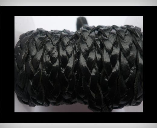 6mm-Flat Braided-Black