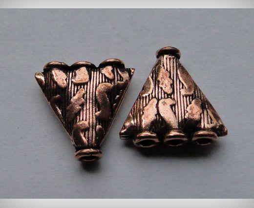 Perle e pendenti di piccola taglia in rame anticato