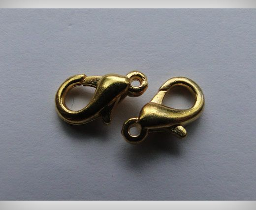 Zamak Lobster Claw Clasps-SE-1227 - Gold Plated