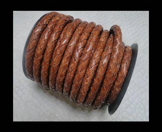 Braided Leather Cord 8 mm SE PB 10