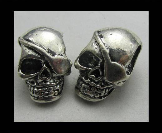 Zamac Silver Plated Beads CA-3387