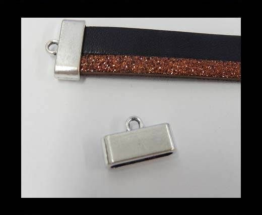 Zamak part for leather CA-3836-15*3mm-Anti-Silver