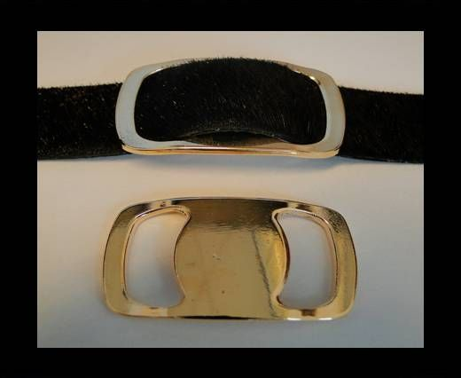 CA-4645-Rose Gold-Zamac parts for leather