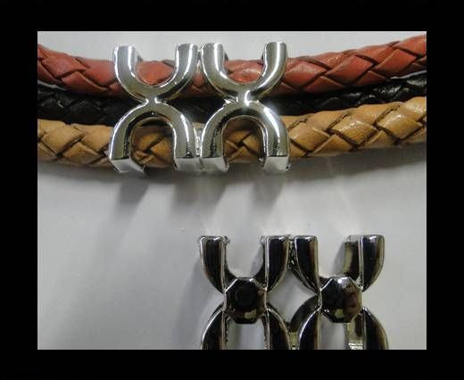 CA-4667- silver-Zamac parts for leather