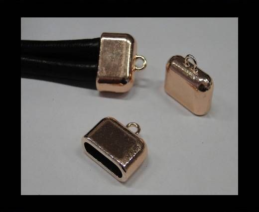 CA-4696-Rose gold-Zamac parts for leather