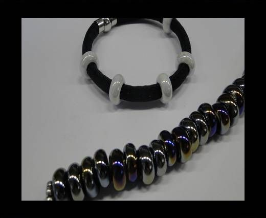 Ceramic beads with hole 6mm style 1-Black AB