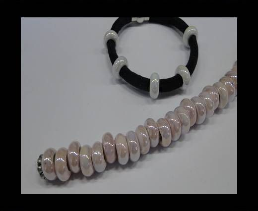 Ceramic beads with hole 6mm style 1-Pink AB