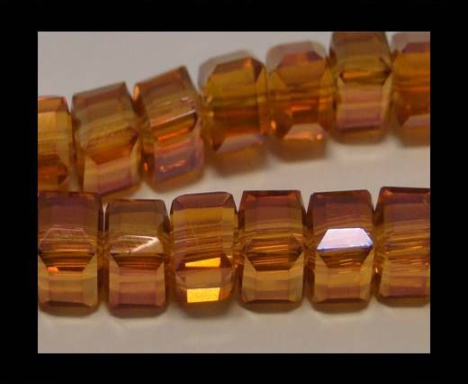Faceted Cubes-6mm-Trans. Wine Red