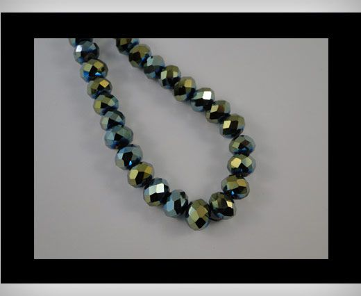 Faceted Glass Beads-4mm-Cosmo Jet