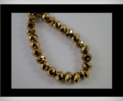 Faceted Glass Beads-12mm-Golden shadow