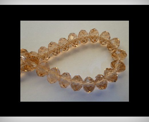 Faceted Glass Beads-18mm-Rose