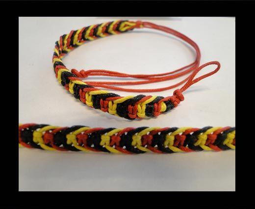 Fancy Cord Bracelet -FJ04-BYR