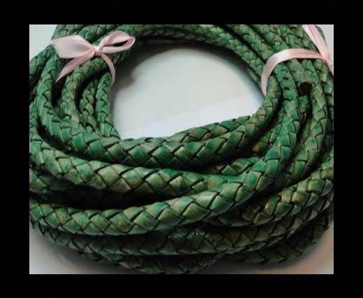 Fine Braided Nappa Leather Cords-8mm-DI PB 01 light green