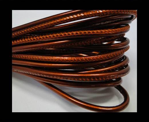 Fine Nappa Leather- Dark orange -4mm