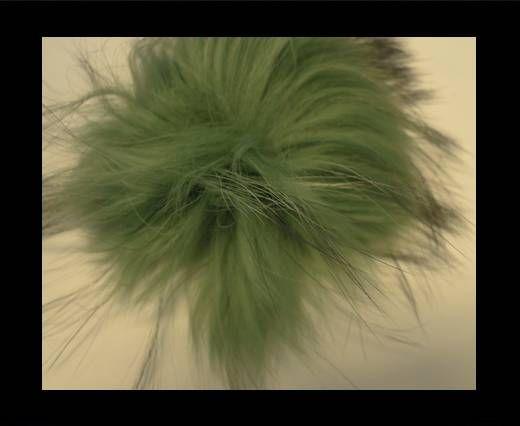 Finn Raccoon Pom Pom-Green-14cms