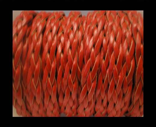 Flat Braided Cords-Style-3-10mm-Red