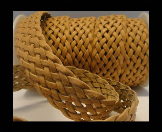 Flat Braided Cords-Style-5-25mm- Natural