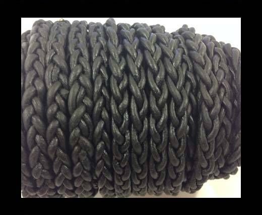 Flat Braided Cords - 3by2 -5mm  - black