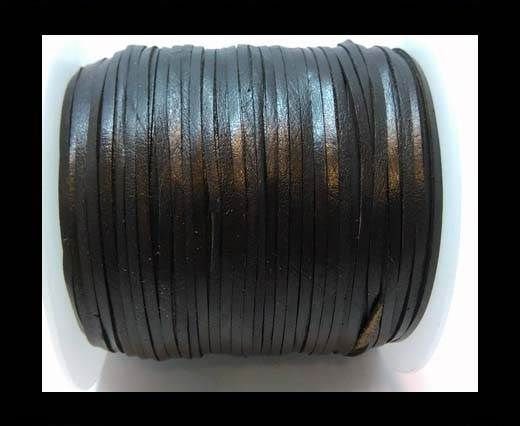 Flat Leather Cords - Cow -width 5mm-27401 - Black