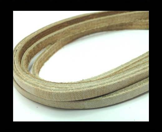 Flat Vintage Leather - 5mm - Bone