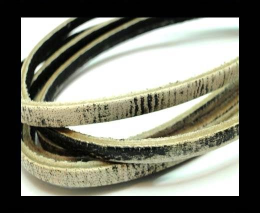 Flat Vintage Leather - 5mm - Taupe