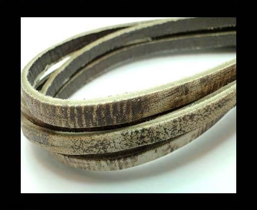 Flat Vintage Leather - 5mm - Tiger Toupe