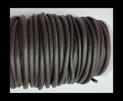 Round Wax Cotton Cords - 4mm - Brown