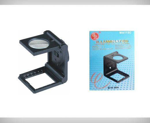 Folding Magnifier with white LED light