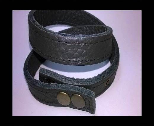Full Real Leather bracelets - Black 1- 43cms