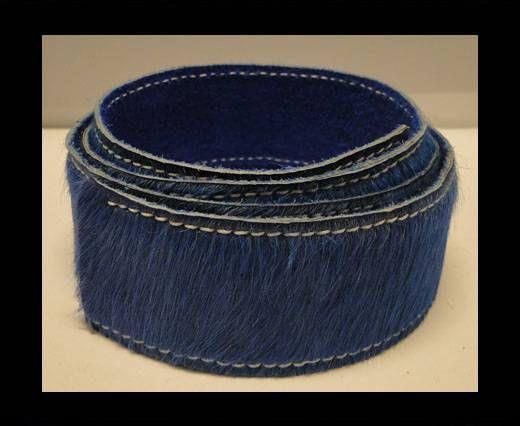 Hair-On Leather Belts-Dark Blue-40mm