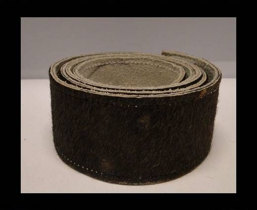 Hair-On Leather Belts-Dark Brown-40mm