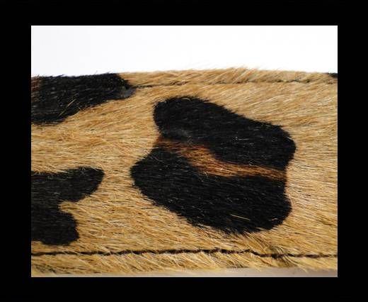 Hair-On Leather Belts-Leopard Skin (big spots)-40mm