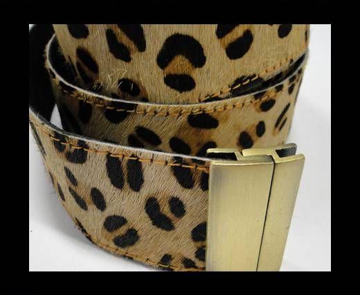 Hair-On Leather Belts-Leopard BigSpot-40mm
