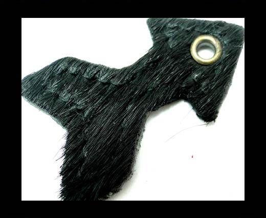 KC-Key Cord Arrow Shape 4cm Black