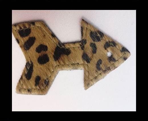KC-Key Cord Arrow Shape 8cm leopard hair-on