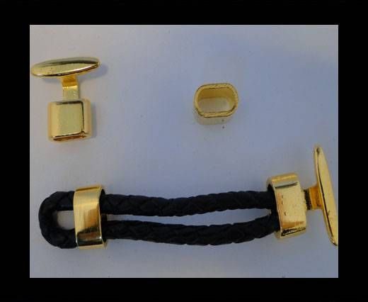 Locks for leather/Cords ZAML-12-Gold