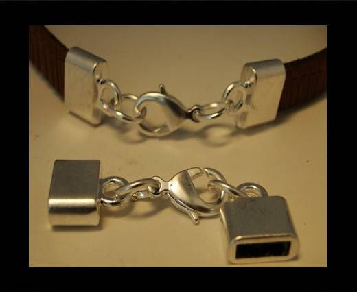Locks for leather/Cords-ZAML-03-10*3mm-Powdered-Silver