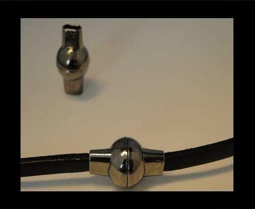 Zamak magnetic clasp MGL-4-5*2mm-Black