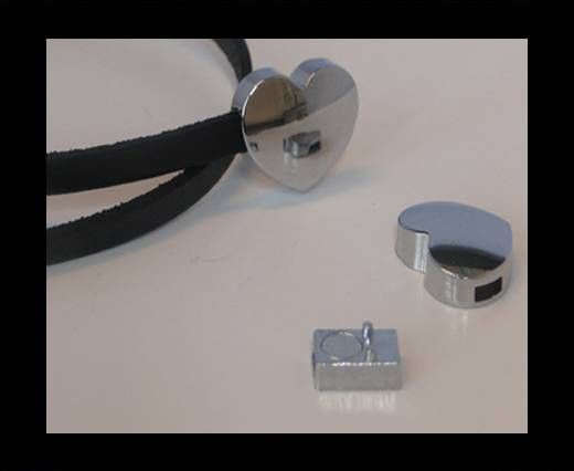 Magnetic Locks for leather Cords - MGL-130-5X2mm Steel Finish