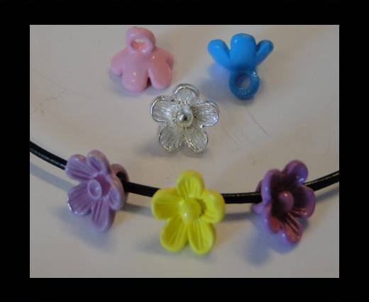 Metal Beads-Flower-Mixed-7 Colours-8mm