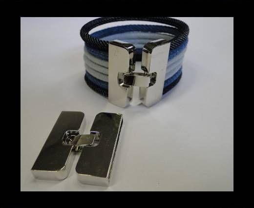 Zamak magnetic clasp MGL-214-35*4mm