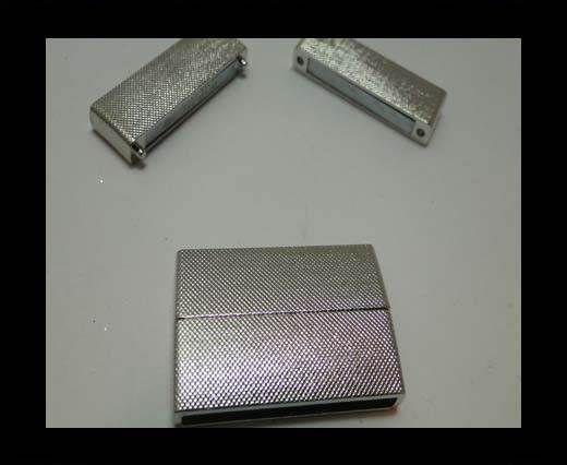 Zamak magnetic clasp MGL-216-36*4mm-silver
