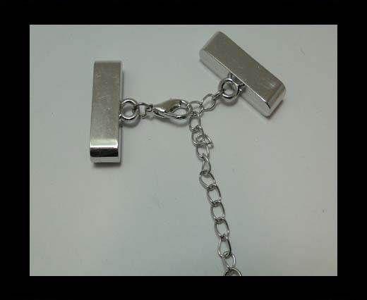 Zamak magnetic clasp MGL-227-35*4,5mm-steel silver
