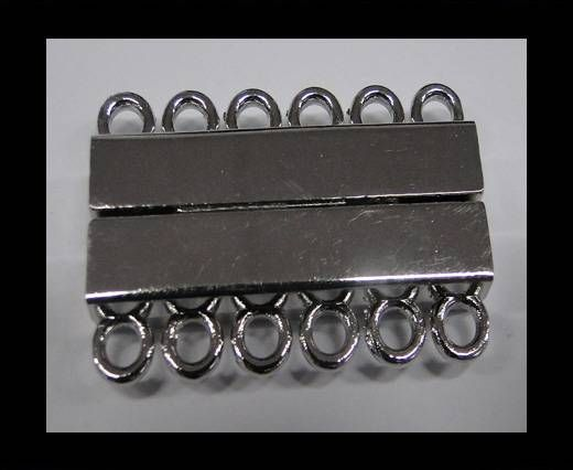 Zamak magnetic clasp MGL-230-35mm Steel Silver