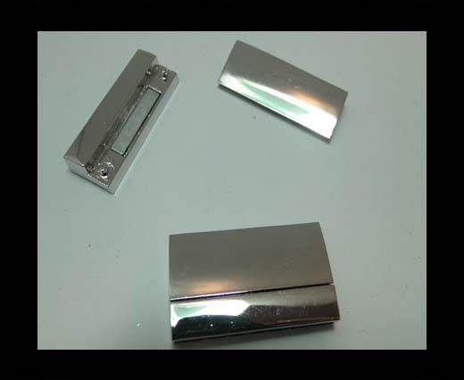 Zamak magnetic clasp MGL-260-33*3mm-silver