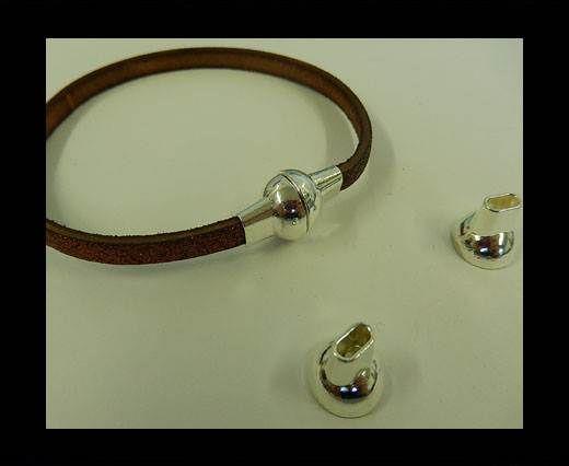 Zamak magnetic clasp MGL-4-5*2MM-SILVER