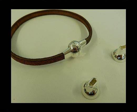 Zamak magnetic clasp MGL-4-5*2MM-STEEL