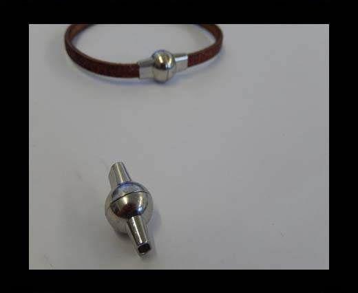 Zamak magnetic clasp MGL-4-5by2mm-Steel